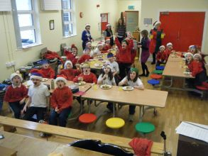 Crackers and turkey and pudding and ice-cream ........... and a great time at our  Christmas Dinner!